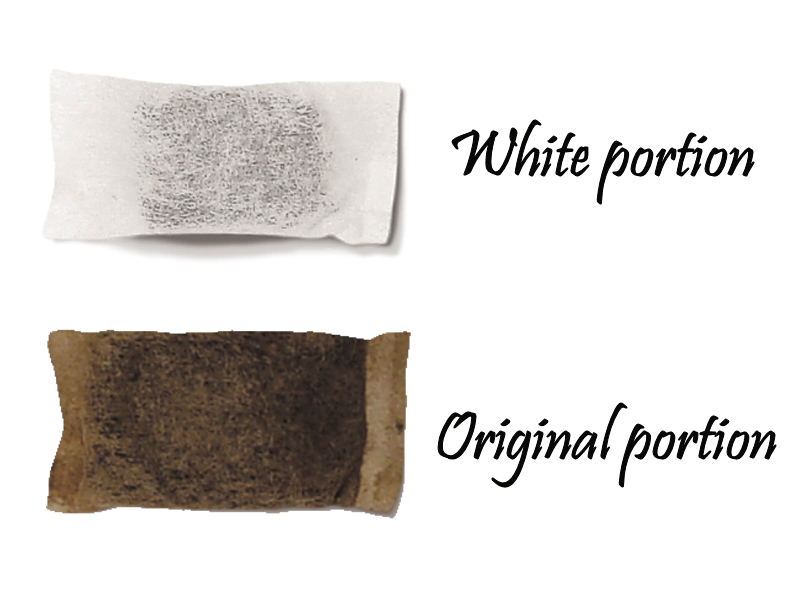 white vs original portion